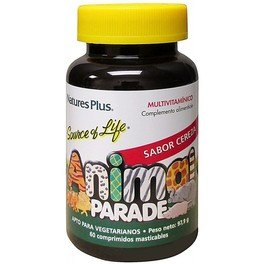 Natures Plus Animal Parade Multivitaminico Cereza 60 Comp Mast