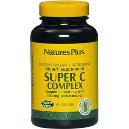 Natures Plus Super C Complex 60 Comp 1000 Mg