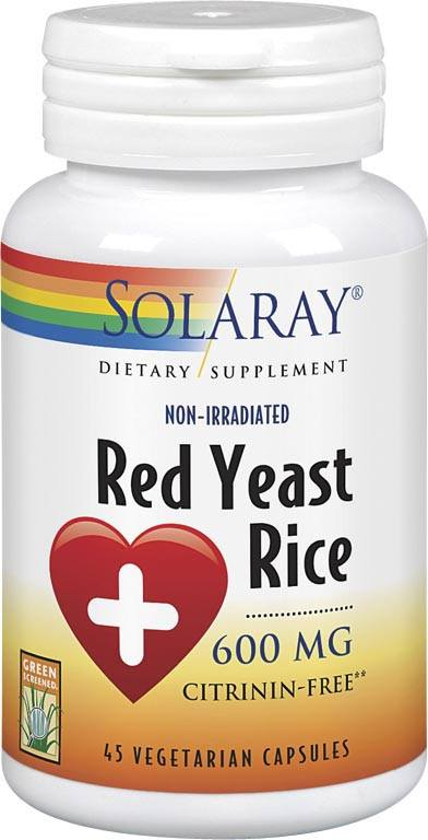 Solaray Red Yeast Rice 600mg 45 Vcaps