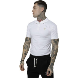Sik Silk Polo Siksilk Strech Fit Tee Blanco