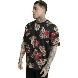 Sik Silk Camiseta Siksilk X Dani Alves Essential Animal Floral Negro
