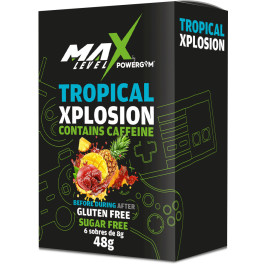 Powergym Max Level - Caja 6 Sobres Tropical Xplosion