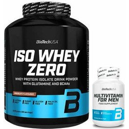 Pack BioTechUSA Iso Whey Zero 2270 gr + Multivitamin for Men 60 tabs