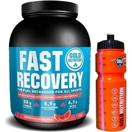 Pack Gold Nutrition Fast Recovery 1 Kg + Bidon Naranja 800 ml