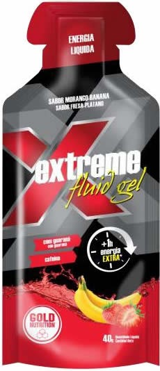 Gold Nutrition Extreme Fluid Gel con Guaraná y Cafeína 24 geles x40 gr