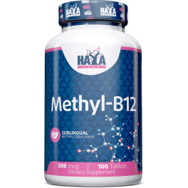 Haya Labs Haya Methyl B12 - 200 Mcg - 100 Tabs.