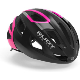Rudy Project Strym Black - Pink Fluo (shiny) Free Pads + Bug Stop Incl.