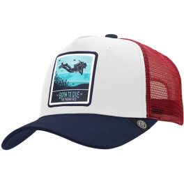 The Indian Face Born To Scuba Dive White / Blue / Red Gorra