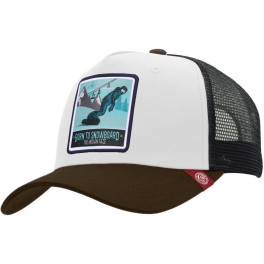 The Indian Face Born To Snowboard White / Black / Brown Gorra