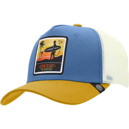 The Indian Face Born To Surf Blue / Yellow / White Gorra