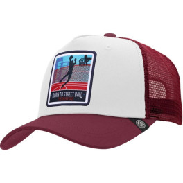 The Indian Face Born To Street Ball White / Red Gorra