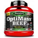 Cad-04/02/20 Amix MuscleCore OptiMass Beef Gainer 2,5 kg Doble-Chocolate Blanco