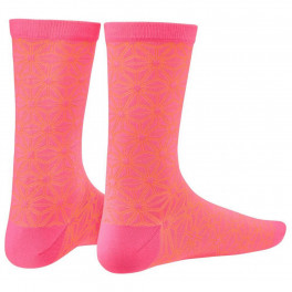 Supacaz Socks Asanoha Neon Pink And Neon Orange