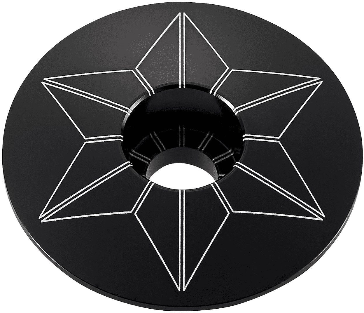Supacaz Star Capz Black (anodized)