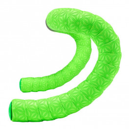 Supacaz Super Sticky Kush Truneon Neon Green W/ Neon Green Plugs
