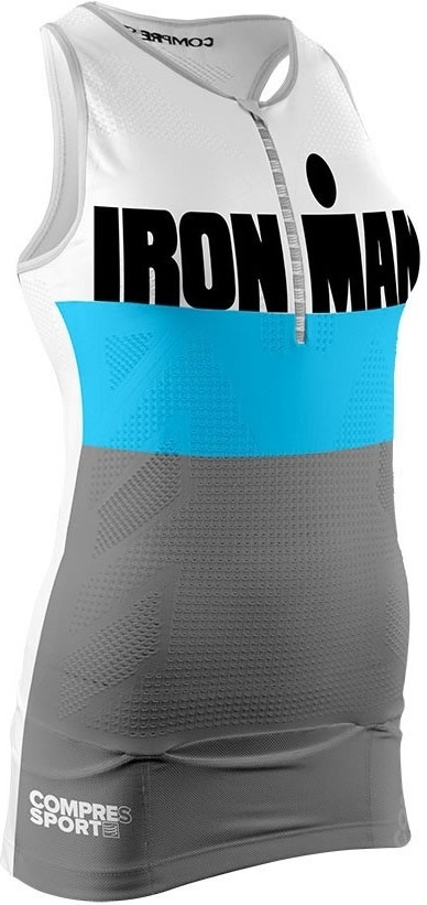 Compressport Aero Top TR3 Mujer Ironman Smart Gris