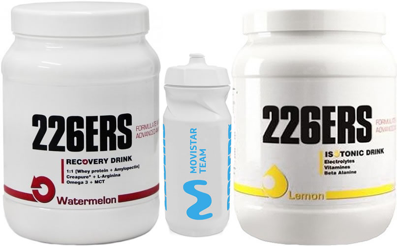 Pack 226ERS Isotonic Drink 500 gr + Recovery Drink 500 gr + Bidon Bulevip 600 ml