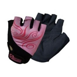 Scitec Guantes Girl Power Negro-Rosa
