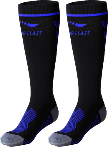 Sportlast Calcetines Largos Comprension Pro Running Everest Negro-Azul