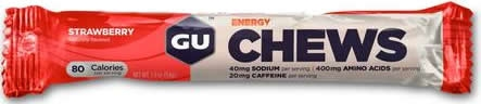 GU Energy Chews - Gominolas Chomps con 20 mg Cafeína 1 bolsa x 8 unid