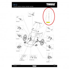 Thule Cable Freno Chariot Cx2 V13