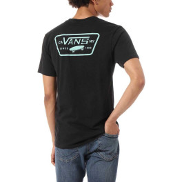 Vans Camisetas Distortion Type Hombre Negro