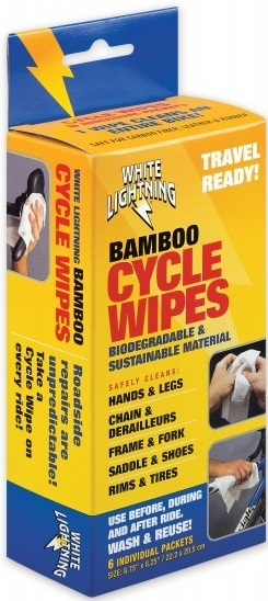 White Lightning Bamboo Cycle Wipes 6 paquetes