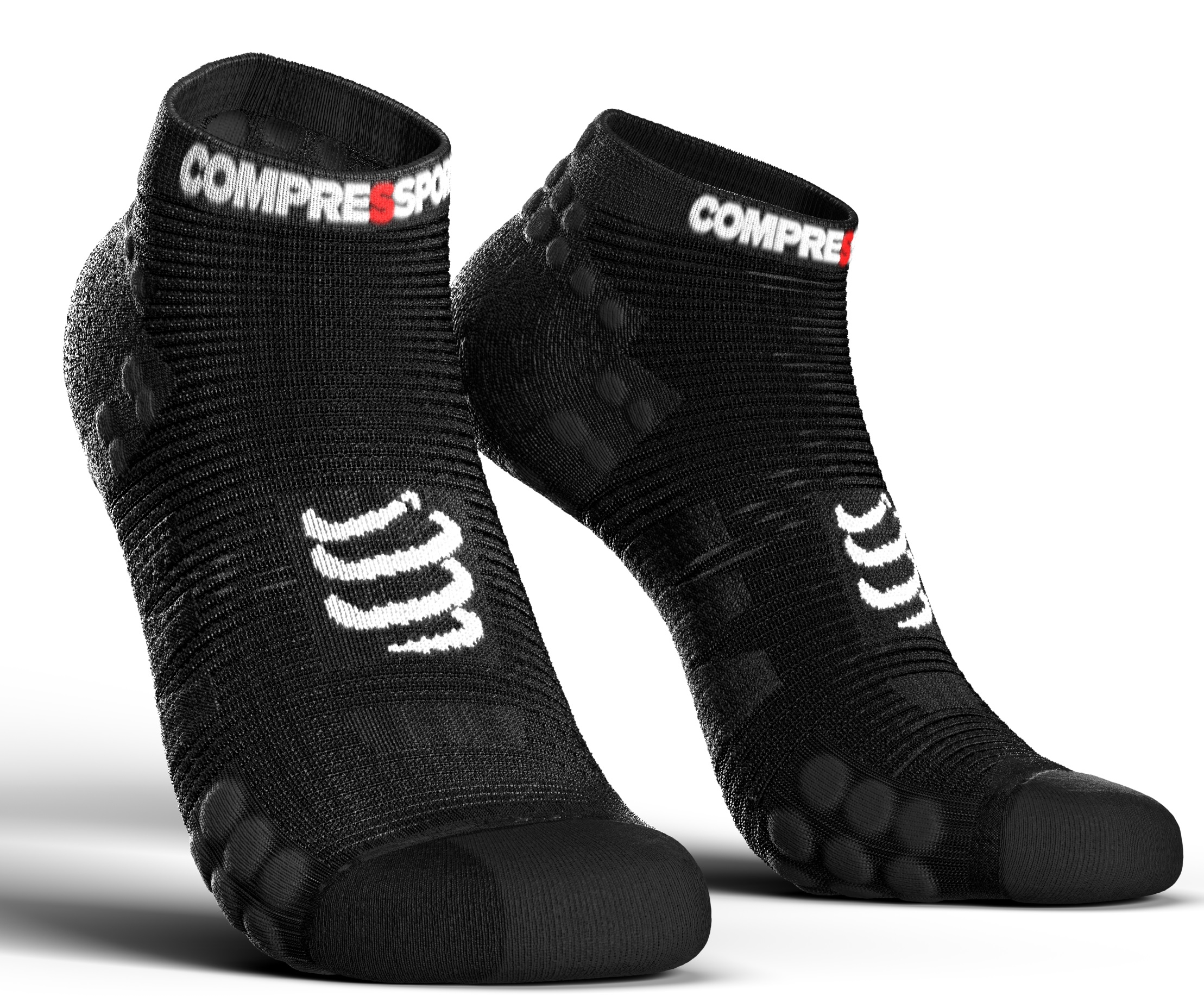 Compressport Calcetines Pro Racing Socks V3.0 Run Low Cut Negro