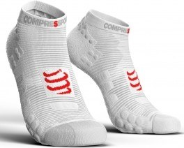 Compressport Calcetines Pro Racing Socks V3.0 Run Low Smart Blanco