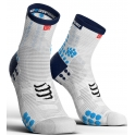 Compressport Calcetines Pro Racing Socks V3.0 Run High Blanco-Azul