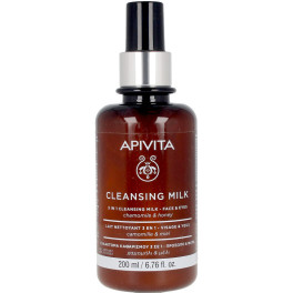Apivita Milky Cleanser 3 In 1 For Face And Eyes 200 Ml Unisex