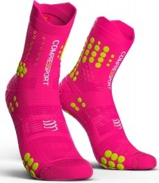 Compressport Calcetines Pro Racing Socks V3.0 Trail Rosa Fluor