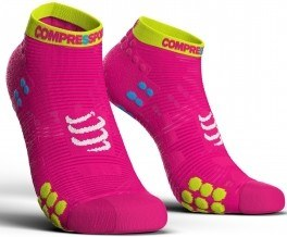 Compressport Calcetines Pro Racing Socks V3.0 Run Low Rosa Fluor