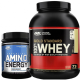 Pack Optimum Nutrition 100% Whey Gold Standard 5 Lbs + Amino Energy 558 gr