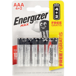Energizer Max Power Lr03 Aaa Pilas Pack X 6 Uds Unisex
