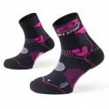 BV Sport Calcetines Trail STX+ Negro-Rosa
