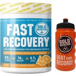 Pack Gold Nutrition Fast Recovery 600 gr + Bidon 500 ml