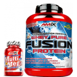 Pack Amix Whey Pure Fusion 2,3 kg + Multi Mega Stack 30 tabs