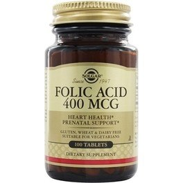 Solgar Folic Acid - Acido Folico 400 mcg 100 comp