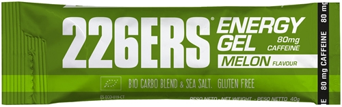 226ERS Energy Gel BIO Melon con 80 mg de Cafeina - 1 gel x 40 gr