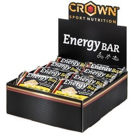 Crown Sport Nutrition Energy Bar 10 x 60g Barritas de avena energéticas para larga distancia con proteína