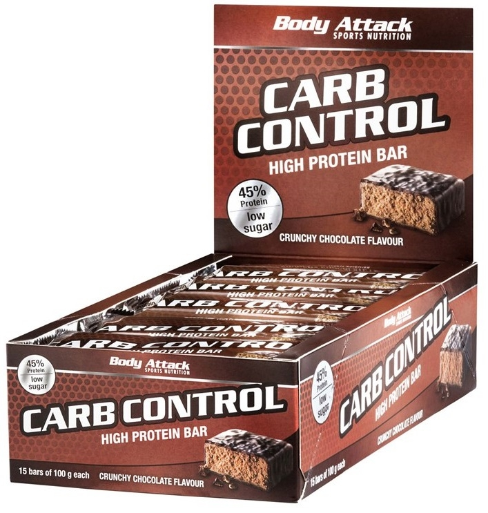 Body Attack Sports Nutrition Carb Control Protein Bar 15 barritas x 100 gr