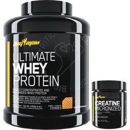Pack BigMan Ultimate Whey Protein 2 kg + Creatine Micronized 200 Gr