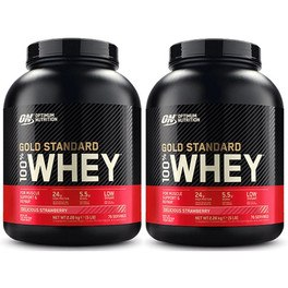 Optimum Nutrition Proteína On 100% Whey Gold Standard 2 Botes x 5 Lbs (2,27 Kg)