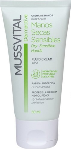 Mussvital Dermactive Manos Secas Sensibles Fluid Cream 50 ml