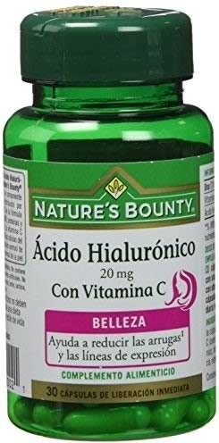 Natures Bounty Acido Hialuronico 20 mg con Vitamina C 30 caps