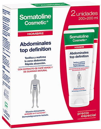 Somatoline Cosmetic Abdominales Top Definition Hombre SportCool 2 botes x 200 ml