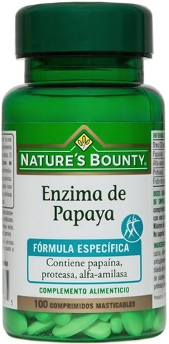 Nature´s Bounty Enzima de Papaya 100 compr