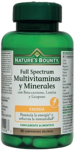 Nature´s Bounty Full Spectrum Multivitaminas y Minerales 60 compr