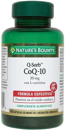 Nature´s Bounty Q-Sorb Q-10 30 mg con L-Carnitina 60 caps